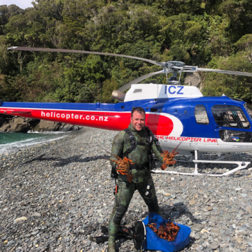 The Rees Ultimate Heli-Crayfish Dining Experience