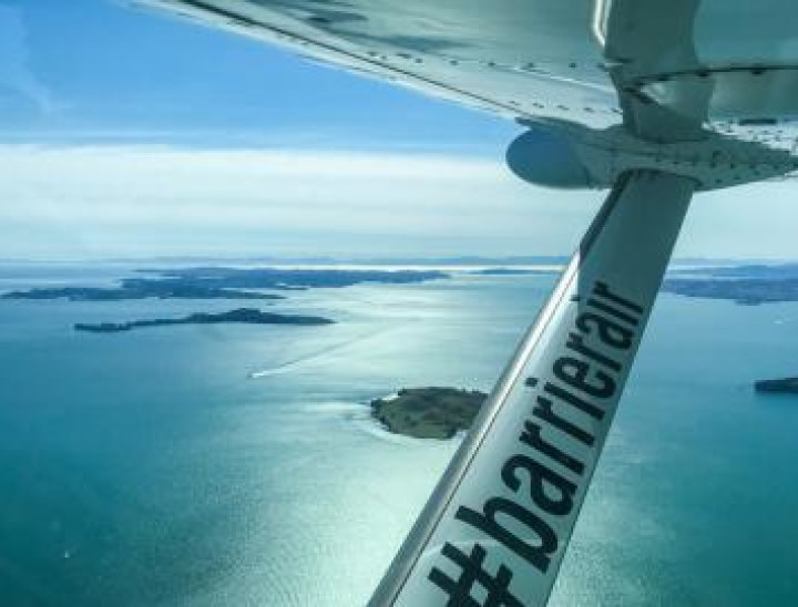 great barrier island flight view